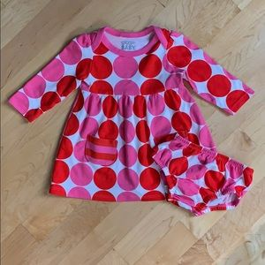 Giggle Baby Polka Dot Dress and Diaper Cover